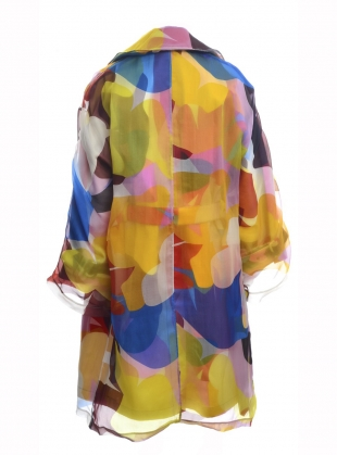 Young British Designers: Organza Coat of Many Colours by MINKI LONDON