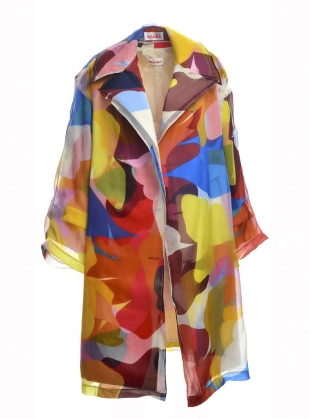 Organza Coat of Many Colours by MINKI LONDON