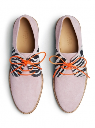Young British Designers: PALMA VIOLET Light Pink Suede Brogue by Rogue Matilda