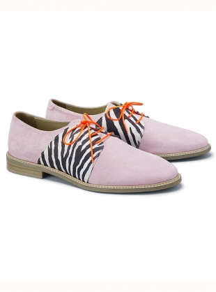 Young British Designers: PALMA VIOLET Light Pink Suede Brogue - last pair by Rogue Matilda