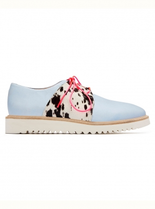 TUTTI FRUTTI Light Blue Leather Brogue - Last pair by Rogue Matilda