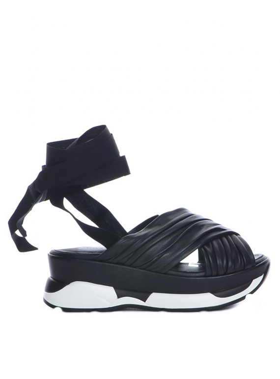 Young British Designers: SILVA SANDAL in Black by Eudon Choi