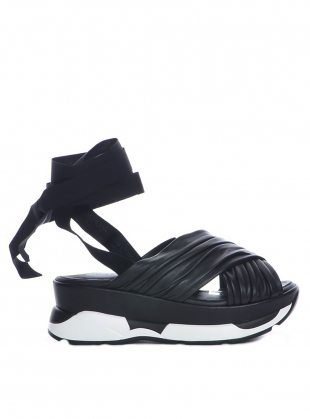 SILVA SANDAL in Black by Eudon Choi