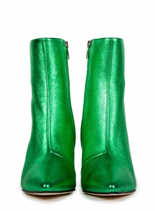 Young British Designers: RAZOR Pointed Boot. Green by HAVVA