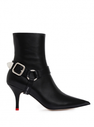 RAZOR Buckle Pointed Boot in Black by HAVVA