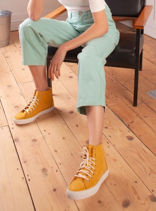 NUBUCK HIGH TOPS. Yellow by LF Markey