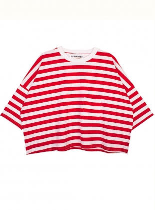 Young British Designers: WINSTON TEE. Red Stripe - SOLD OUT by LF Markey