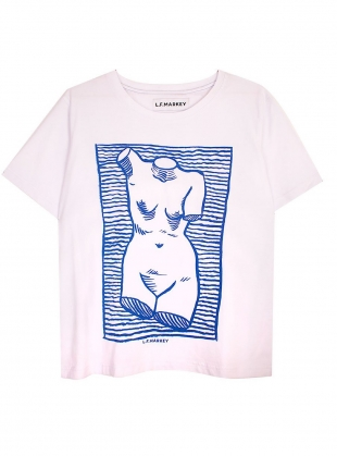 Young British Designers: VENUS TEE. White - Last one by LF Markey