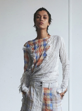 Young British Designers: THE SIDE KNOTTED TOP  by WEN PAN