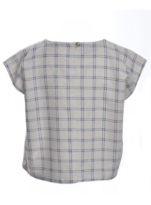 Young British Designers: EDIE TOP. Check Linen by Kate Sheridan