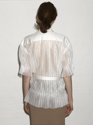 Young British Designers: ENZO SHIRT. White  by Eudon Choi