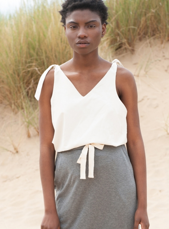 Young British Designers: MAGGI ORGANIC COTTON CAMI by Beaumont Organic