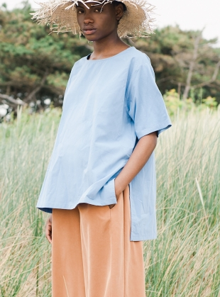 Young British Designers: HAYLEY TOP. Cornflower Blue by Beaumont Organic