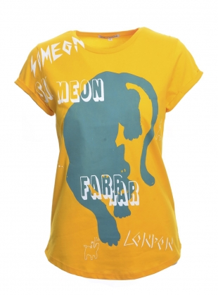 SCRIBBLE PANTHER Tee. Yellow - Last one (S) by Simeon Farrar