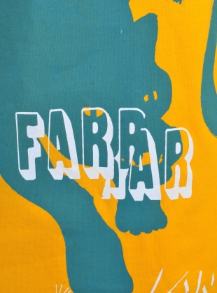 Young British Designers: SCRIBBLE PANTHER Tee. Yellow - Last one by Simeon Farrar