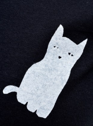 Young British Designers: KIND FOX. Black Tee by Simeon Farrar