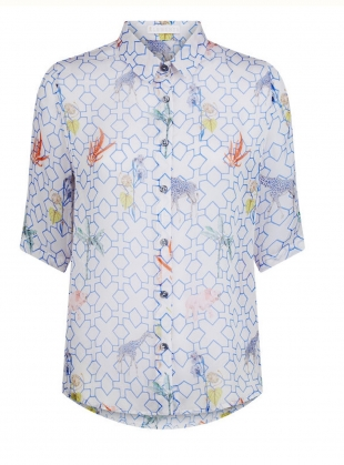 Young British Designers: The Mildred Shirt. Bamboo Jungle - last one (L) by Klements