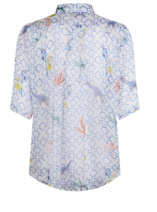 Young British Designers: The Mildred Shirt. Bamboo Jungle - last one by Klements
