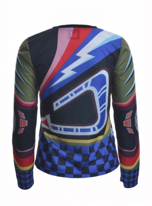 Young British Designers: Printed Jersey Long Sleeve Top by Sadie Williams
