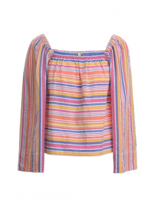 TAMARA Woven Yarn Top in Rainbow by Belize