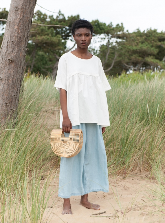 Young British Designers: DOROTHY TOP. Natural White by Beaumont Organic