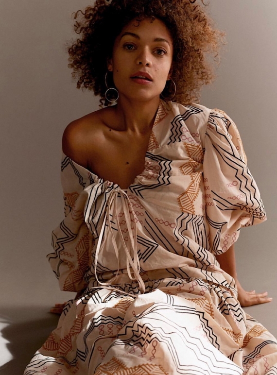 Young British Designers: ELSA Embroidered Cream Top by Eudon Choi