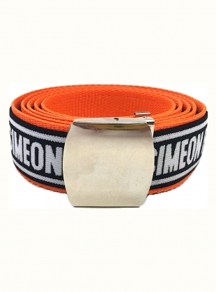 Orange SF Web Belt by Simeon Farrar