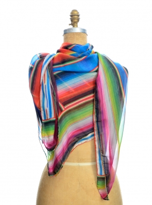 Young British Designers: GIANT SQUARE SCARF. Marfa Sunset by Klements