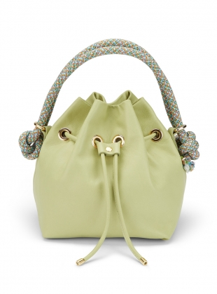 Pistachio ARM CANDY LEATHER BAG by Rogue Matilda