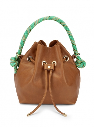 Tan ARM CANDY LEATHER BAG by Rogue Matilda