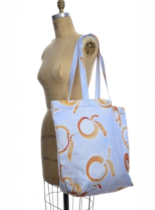 Young British Designers: MARKET BAG in Laranja Print by COR Clothes