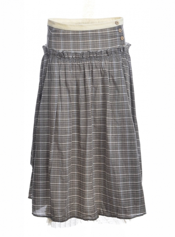 Young British Designers: Frances Soft Check Skirt - Last one (M) by Renli Su