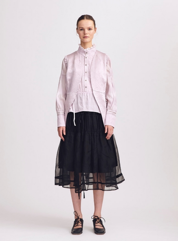 Young British Designers: Emma Black Ruched Skirt - Last one (M) by Renli Su
