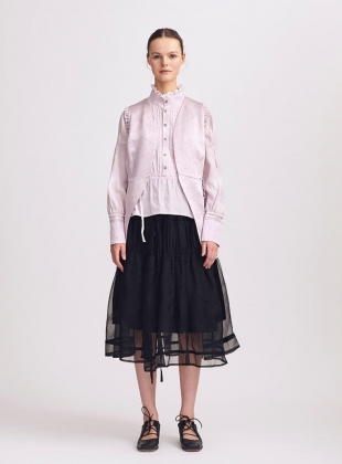 Emma Black Ruched Skirt - Sold out by Renli Su