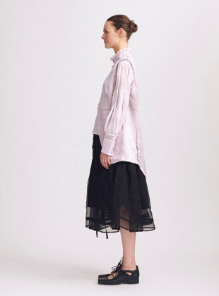 Young British Designers: Emma Black Ruched Skirt - Sold out by Renli Su