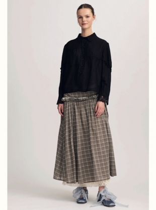Frances Soft Check Skirt by Renli Su