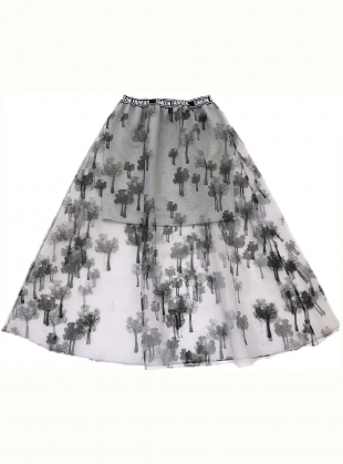 Young British Designers: Organza Trees Skirt by Simeon Farrar
