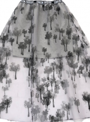 Young British Designers: Organza Trees Skirt - last one (S) by Simeon Farrar