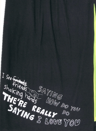 Young British Designers: Wonderful Life Black Slit Skirt - last one (XS) by Simeon Farrar