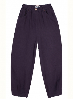 Young British Designers: FAT BOYS LINEN TROUSERS. Navy by LF Markey