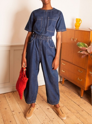 FRANCIS BOILERSUIT. Indigo  by LF Markey