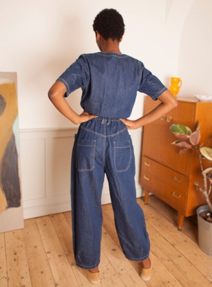 Young British Designers: FRANCIS BOILERSUIT. Indigo by LF Markey