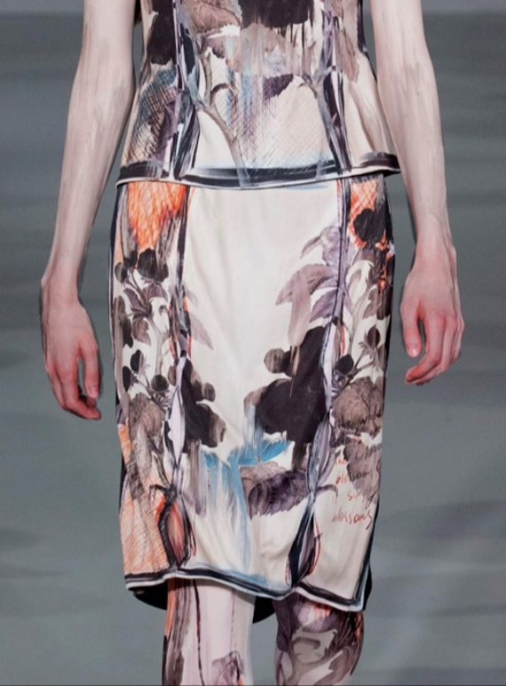 Young British Designers: THE NIGHT YOU LEFT SILK SKIRT by IA London