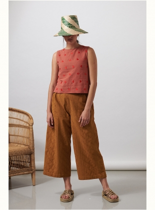 Tobacco DORIS TROUSERS by SIDELINE