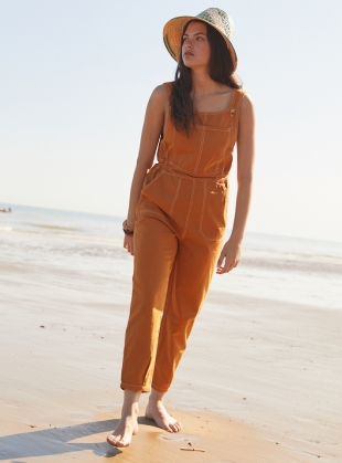 Young British Designers: Mustard HOPE DUNGAREES by SIDELINE
