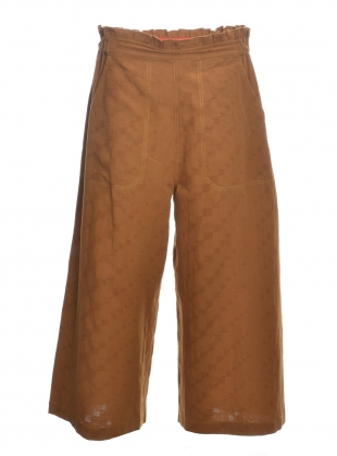 Young British Designers: Tobacco DORIS TROUSERS by SIDELINE