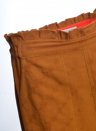 Young British Designers: Tobacco DORIS TROUSERS - Last pair (XS) by SIDELINE