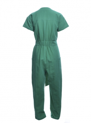 Young British Designers: Green KITTY JUMPSUIT by SIDELINE