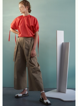 Young British Designers: MINNEL TROUSER. Deep Sand by Eudon Choi