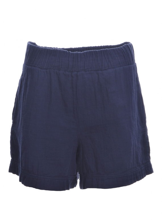 Young British Designers: GILMA ORGANIC COTTON SHORTS. Indigo. - last pair (xs) by Beaumont Organic